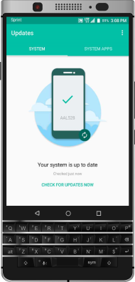 How to force a software update check? - KeyONE - Sprint