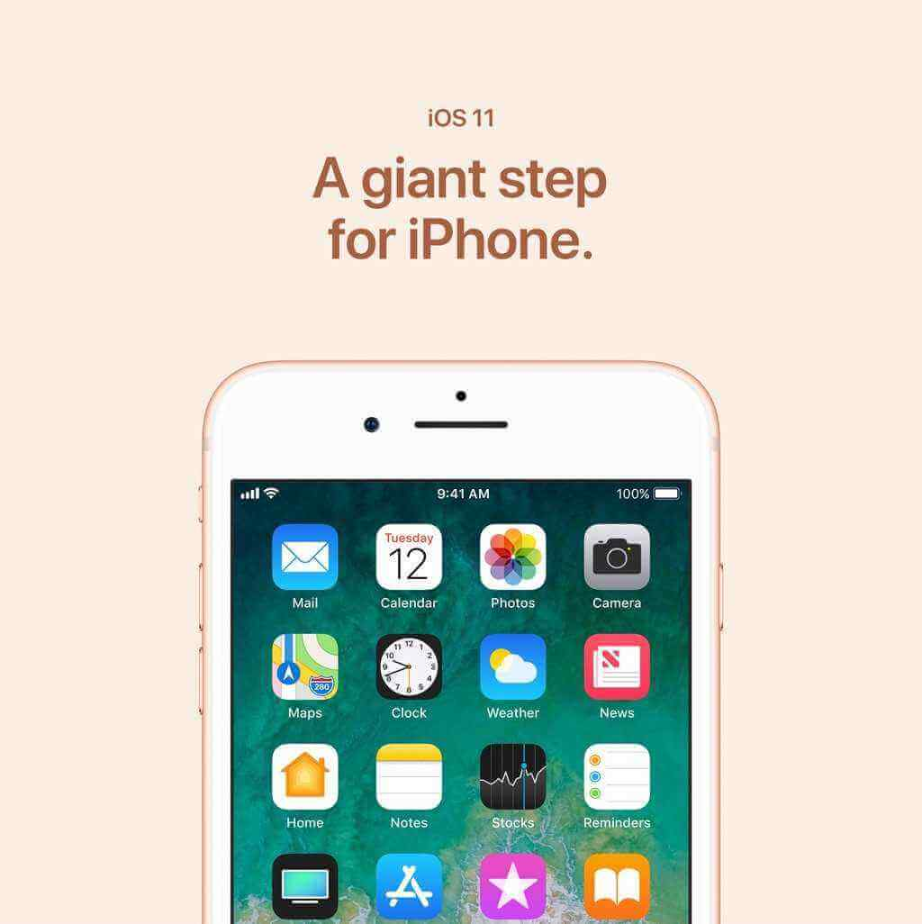 iOS 11 A giant step for iPhone.