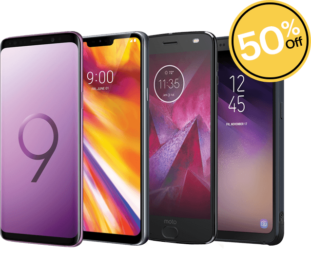 Android Phones 50% Off