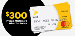 $300 pre-paid Mastercard when you switch