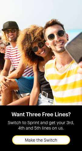 Switch to Sprint and get your 3rd, 4th and 5th lines on us.
