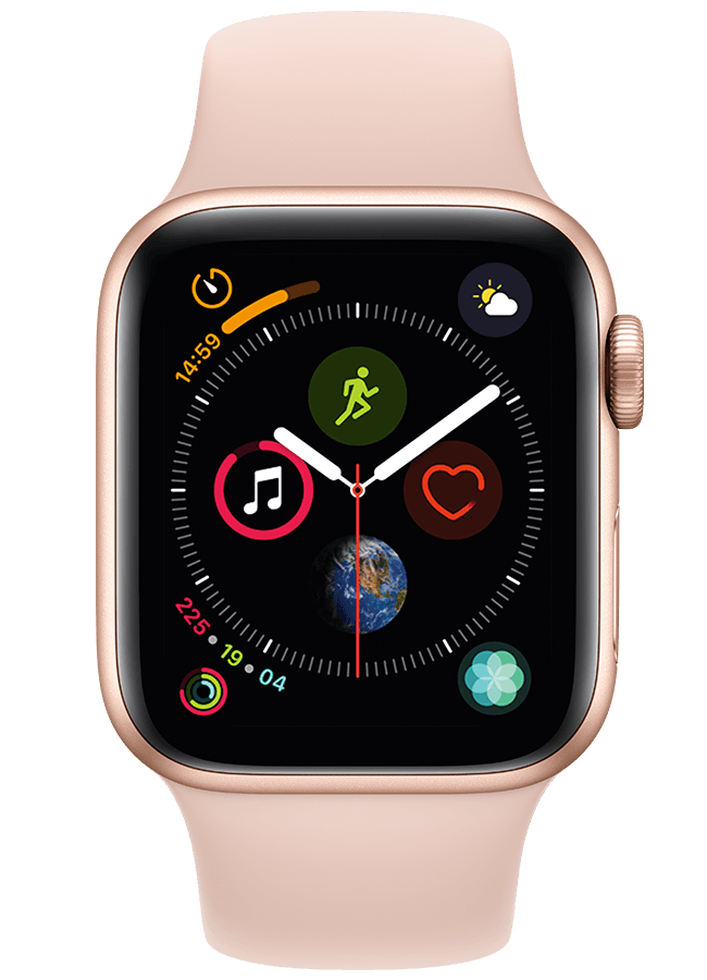 Reloj Apple Watch Series 4 con banda deportiva (GPS + móvil)