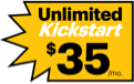 Unlimited Kickstart 35 dollars per month.