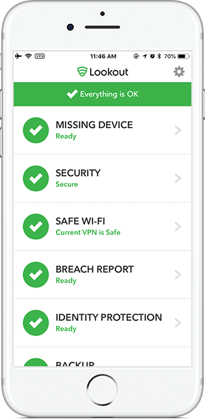 lookout antivirus for iphone
