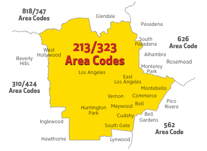 Area Code Splits & Overlays | Sprint Support  Area Code Map on