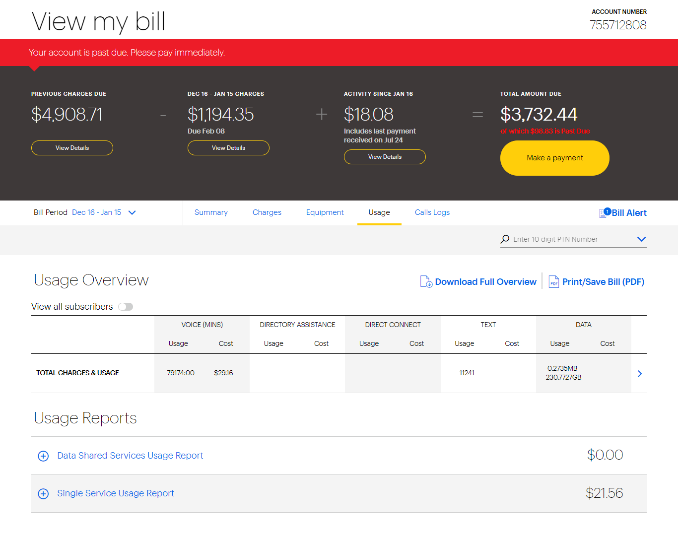 Sprint business tutorial: Online bill | Sprint Support