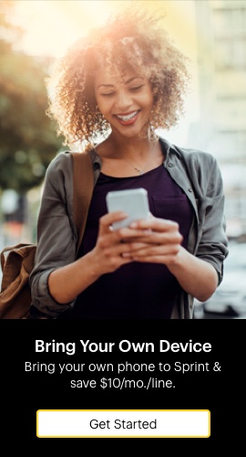 Bring your own device. Bring your own phone to Sprint and save ten dollars per month per line. Get started.
