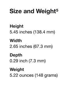 Size and Weight