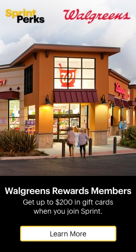 Walgreens Rewards Members, Get up to $200 in Walgreens gift cards when you join Sprint. Learn More.