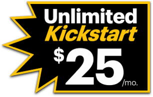 Unlimited Kickstart for $25 per month