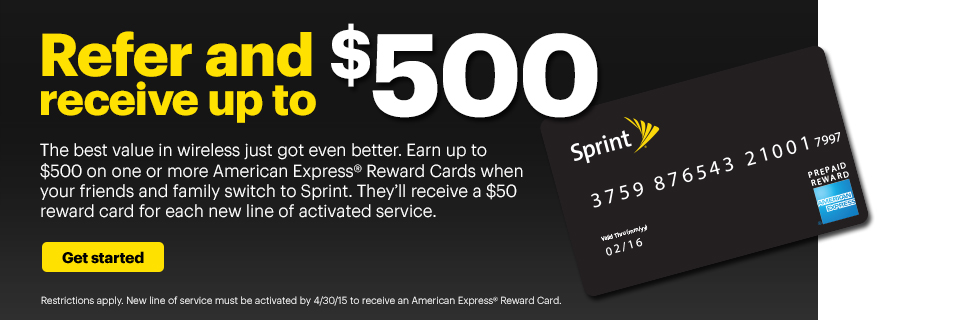 Refer a friend to Sprint