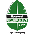 Sprint ranks #3 among the 500 Greenest Companies in America.